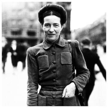 "Simone de Beauvoir // ""The point is not for women simply to take power out of men's hands, since that wouldn't change anything about the world. It's a question precisely of destroying that notion of power."""