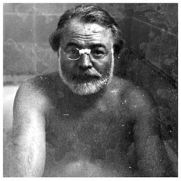 "Ernest Hemingway // ""You must be prepared to work always without applause."""