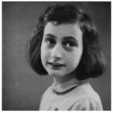 "Anne Frank // ""Think of all the beauty still left around you and be happy."""