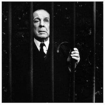 "Jorge Luis Borges // ""Don't talk unless you can improve the silence."""