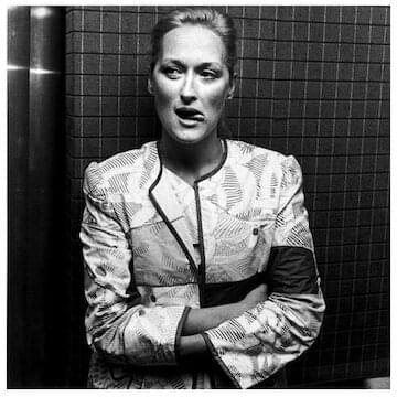 "Meryl Streep // ""Put blinders on to the things that conspire to hold you back, especially the ones in your own head."""