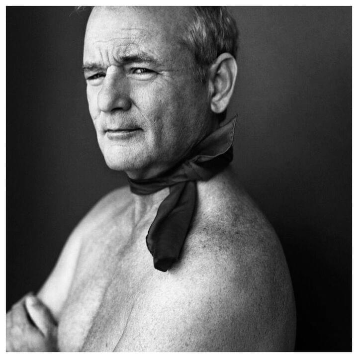 "Bill Murray // ""It pays off when you're in an elevator and people are uncomfortable, you can just say, 'That's a beautiful scarf.' It's just thinking about making someone else feel comfortable...we're all vibrating together. If I can make yours just a little bit groovier, it'll affect me. It comes back, somehow."""