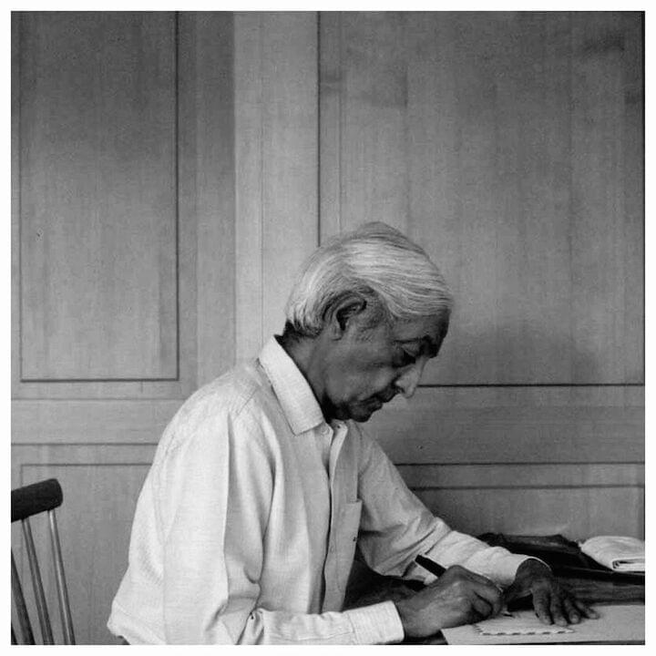 "J. Krishnamurti // ""I maintain that Truth is a pathless land, and you cannot approach it by any path whatsoever, by any religion, by any sect. That is my point of view... Truth, being limitless, unconditioned, unapproachable by any path whatsoever, cannot be organized; nor should any organization be formed to lead or to coerce people along any particular path. If you first understand that, then you will see how impossible it is to organize a belief. A belief is purely an individual matter, and you cannot and must not organize it. If you do, it becomes dead, crystallized; it becomes a creed, a sect, a religion, to be imposed on others... Truth has no path, and that is the beauty of truth, it is living. A dead thing has a path to it because it is static, but when you see that the truth is something living, moving, which has no resting place, which is in no temple, mosque or church, which no religion, no teacher, no philosopher, nobody can lead you to...then you will also see that this living thing is what you actually are. You have to be your own teacher and your own disciple. You have to question everything that man has accepted as valuable, as necessary."""