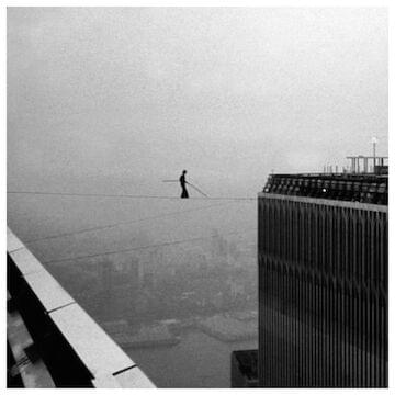 "Philippe Petit // ""My journey has always been the balance between chaos and order."""
