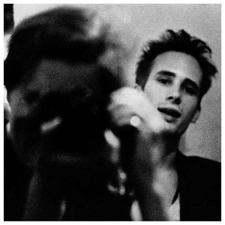 "Merri Cyr (& Jeff Buckley) // ""Jeff allowed me to photograph him in an uncensored way: while he was playing, being interviewed, at dinner, at rest...everything. He wanted people to see his authentic self as opposed to a rock icon. I photographed him when he was angry, tired, pissed off...most of the time people don't allow you to see those aspects of themselves, especially when they are in the process of being mythologized. I think he liked how I saw him through the camera...which hopefully was with empathy. He was very beautiful, but I think Jeff's beauty wasn't about his body, but his ephemeral brilliance. He was very inspiring, as an artist you wanted to be as good as he was."""